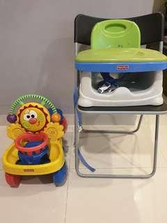 Authentic Fisher Price Baby Seat and Walker