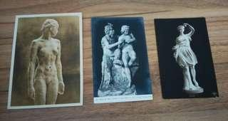 Statues postcards