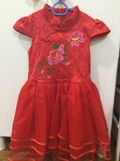 🚚 Girl's Cheong Sum/ Qi Pao (pre-loved)