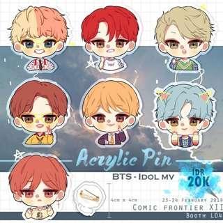 BTS Idol acrylic pin