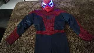 Spiderman Costume with light Mask