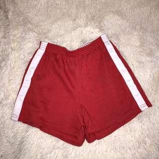 Red booty shorts