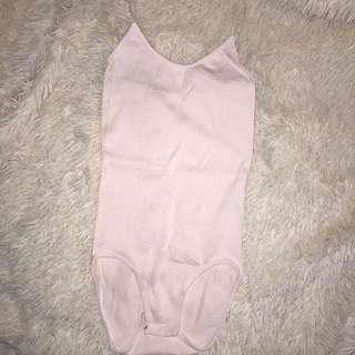 Blush nude thin strap bodysuit