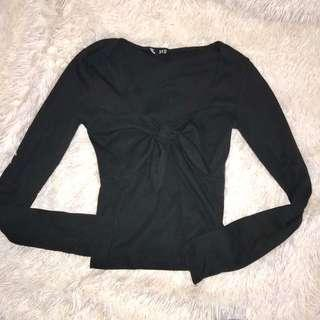 Tie up knot long sleeve