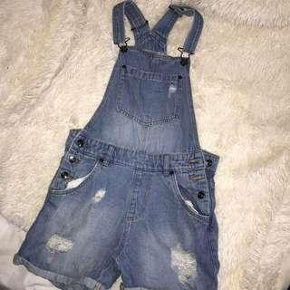 Demim short overalls