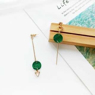 🚚 (INSTOCK) Green Minimalistic Earrings
