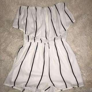 Stripe playsuit jumpsuit