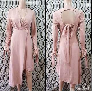 Blush Pink Uneven cut dress