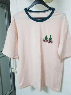 🚚 Korean ulzzang pink top