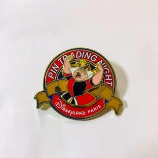 DisneyPin 巴黎迪士尼徽章交換夜 愛麗絲夢遊仙境徽章 紅心皇后反派襟章 2014年絕版