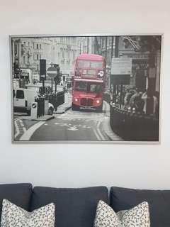 London bus large wall painting