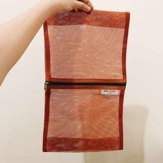 🚚 萬用袋 | 拉鏈袋 大容量包包 化妝品保養乳液收納 橘色