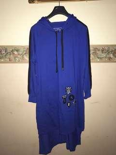 Blue Hoodie Tunik New