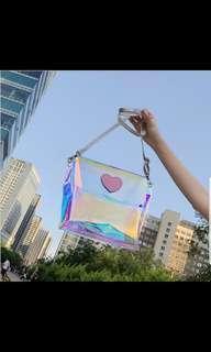 🚚 [PO] Transparent korean/ uzzlang sling bag