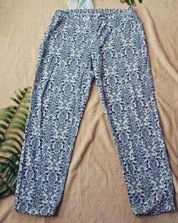 Celana katun motif big size