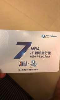 NBA 7 day pass