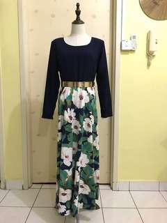 Flora long dress