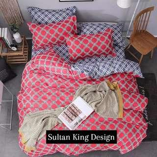 Sultan King Soft Fittted Bedsheet Set with Quilt Cover