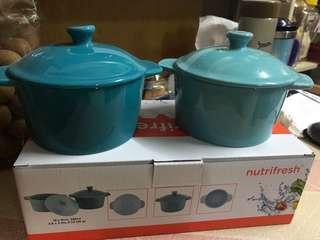 惠康nutrifresh 圓型迷你烤盤(水藍及蔚藍色)