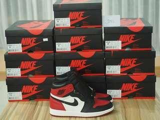 9US-10.5US Air Jordan 1 HIGH OG Bred Toe