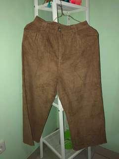 CORDUROY WIDE LEGS PANTS