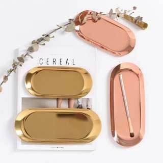 🚚 [PO] Gold/ Rose Gold trinket tray