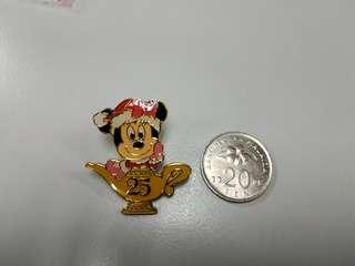 Mickey Mouse Disney Pin Badge 25 anniversary