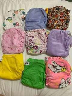 Cloth diapers lampin kain boleh basuh jemur