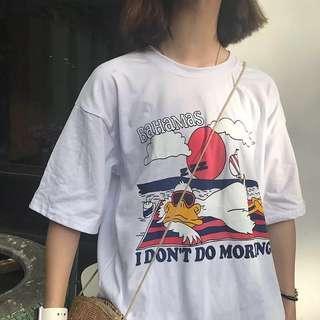 [PO] I Don't Do Mornings Print Tee