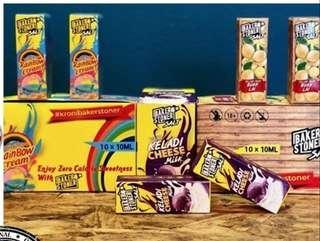 100% ORIGINAL Baker Stoner Salt Rainbow Cream/ Yam Keladi/ Cheese Milk/ Buah Lai Salt 10ml E-Juice E-Liquid Vape Juice