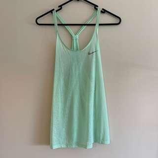 Green Nike singlet