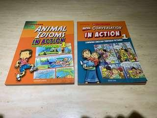 Animal idioms in action Book 1 and More Conversation in Action Book 1