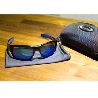 Oakley TURBINE • Sapphire Iridium Lenses • Black Ink Frame Sunglasses OO9263-05