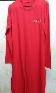 [free post sm] Zara Long Top Red #MMAR18