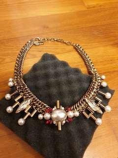 Statement Necklace Pearl x Crystals