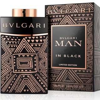 Limited Edition Bvlgari Man In Black Essence 100ml EDP