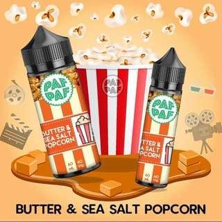 100% ORIGINAL Pafpaf Popcorn Creamy 60ml E-Juice E-Liquid Vape Juice