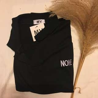 """Polo """"none"""" shirt with tags Korean style 韓風"""