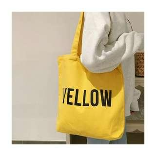 🚚 Yellow Tumblr Canvas Tote Bag