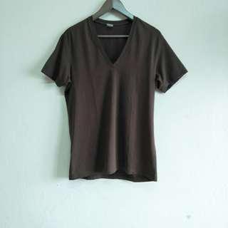 Renoma Brown Short Sleeve Stretchable Shirt