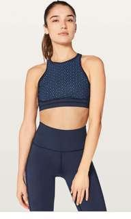 Lululemon Colour Me Quick Bra Midnight Navy /Blazer Blue, Size 4