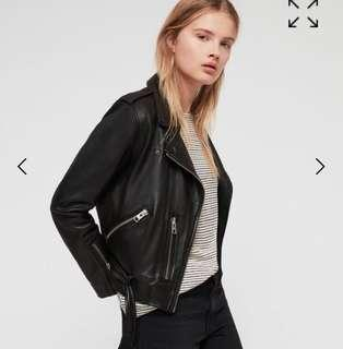 Allsaints balfern leather jacket size 6 wore once