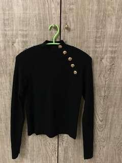 Long sleeve knited shirt with button