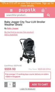 (Brand new!) Baby Jogger Tour Lux Rain Cover