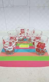 6 Rose Glasses