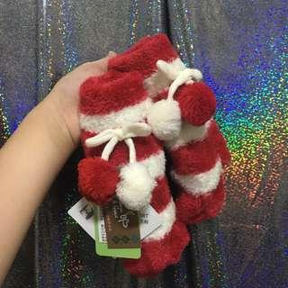 紅白球球手套