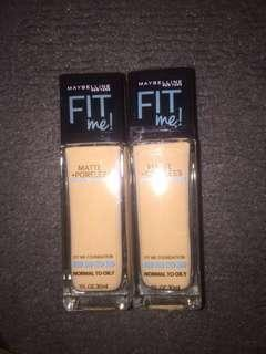 Foundation murah fit me matte+ poreless