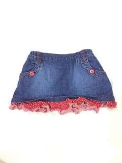 Girl Jeans Skirt