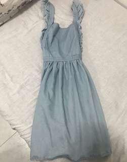 🚚 Baby Blue Pinafore Dress