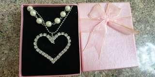 Sterling Sliver + Pearl Necklace